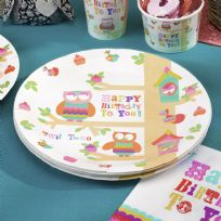 Tree Top Friends Paper Plates (8)